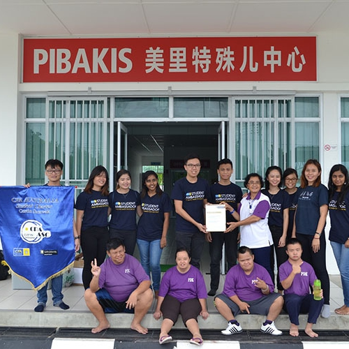 Curtin Malaysia students reach out to special children at PIBAKIS Centre