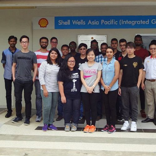 Curtin petroleum engineering students learn about Shell Wells Asia Pacific Learning Hub